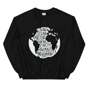 Open image in slideshow, Living Vegan Matters Sweatshirt