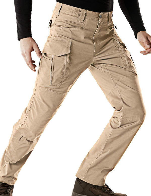 Men's Flex Stretch Tactical Work Outdoor Operator Rip-Stop Trouser Pants EDC