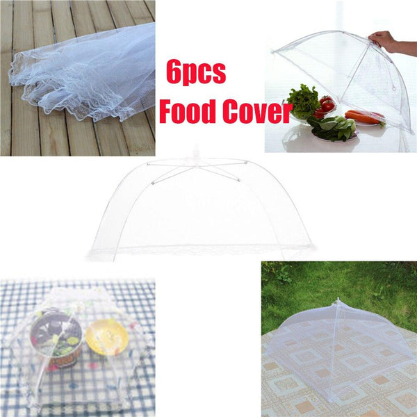 Pop-Up Mesh Food Covers Tent Umbrella for Outdoors, Screen Tents, Parties Picnics, BBQs, Reusable and Collapsible