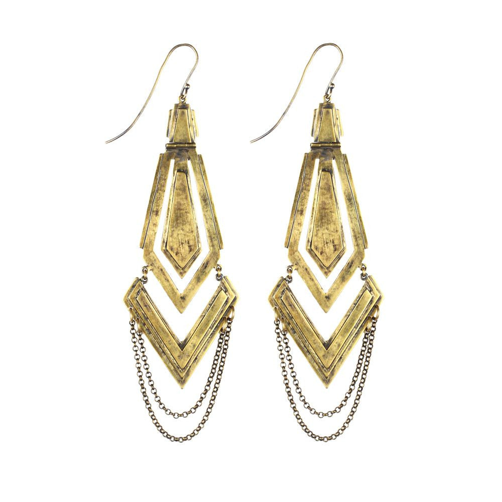 arrow drop chain earings