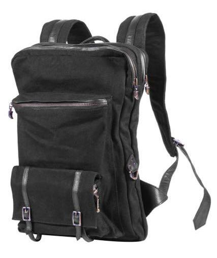 Triple claw back pack - Combo Denim/Leather