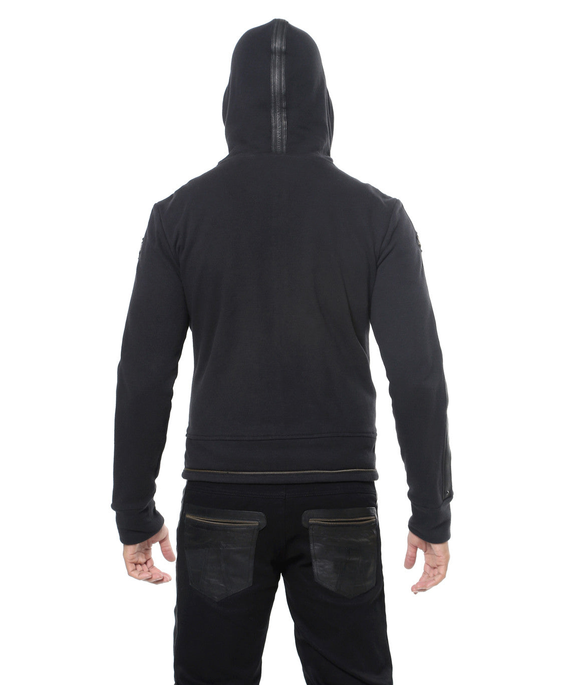 Elk Hoody - Terry Cotton + Leather