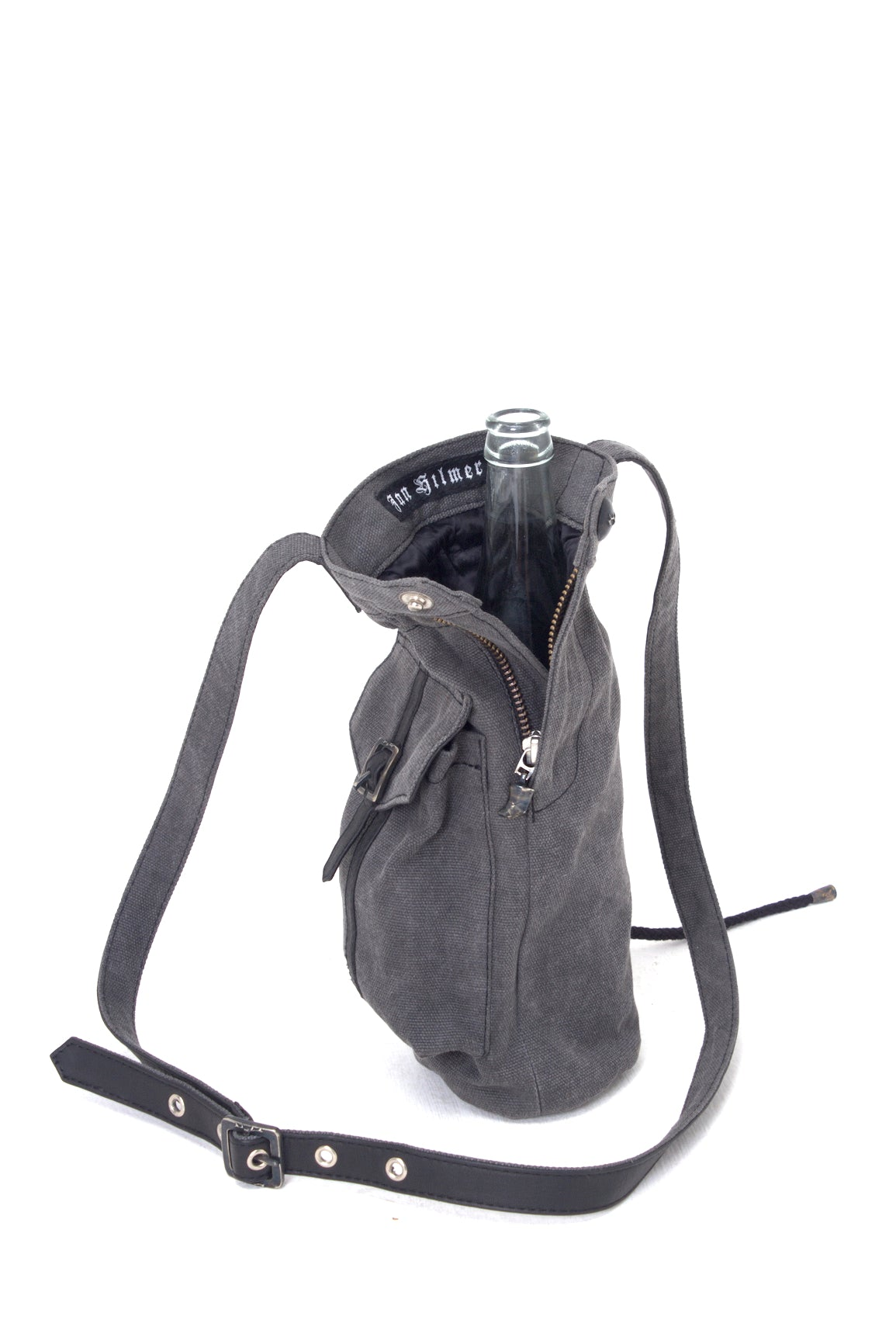 Coyote Bottle Bag - Combo Denim/Leather