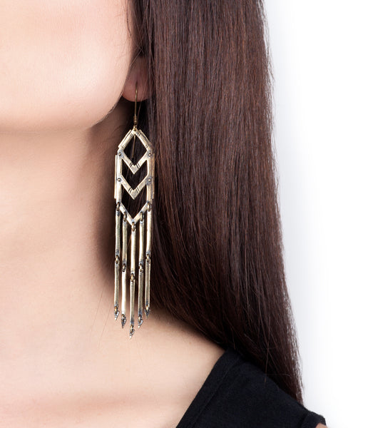 native earrings short brass