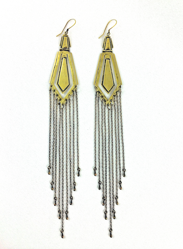 arrow raindrop earrings