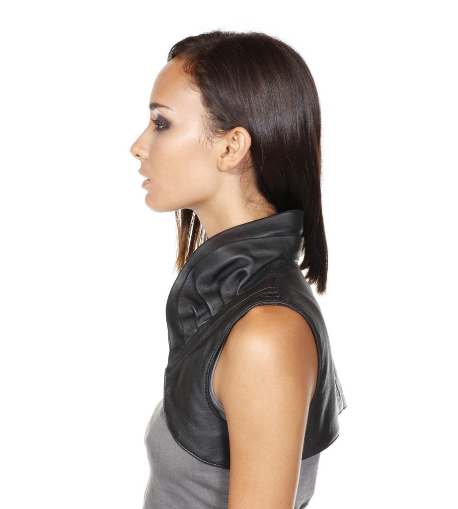 mini leather vest