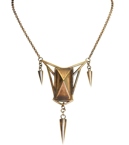 Pyramid Spike Necklace