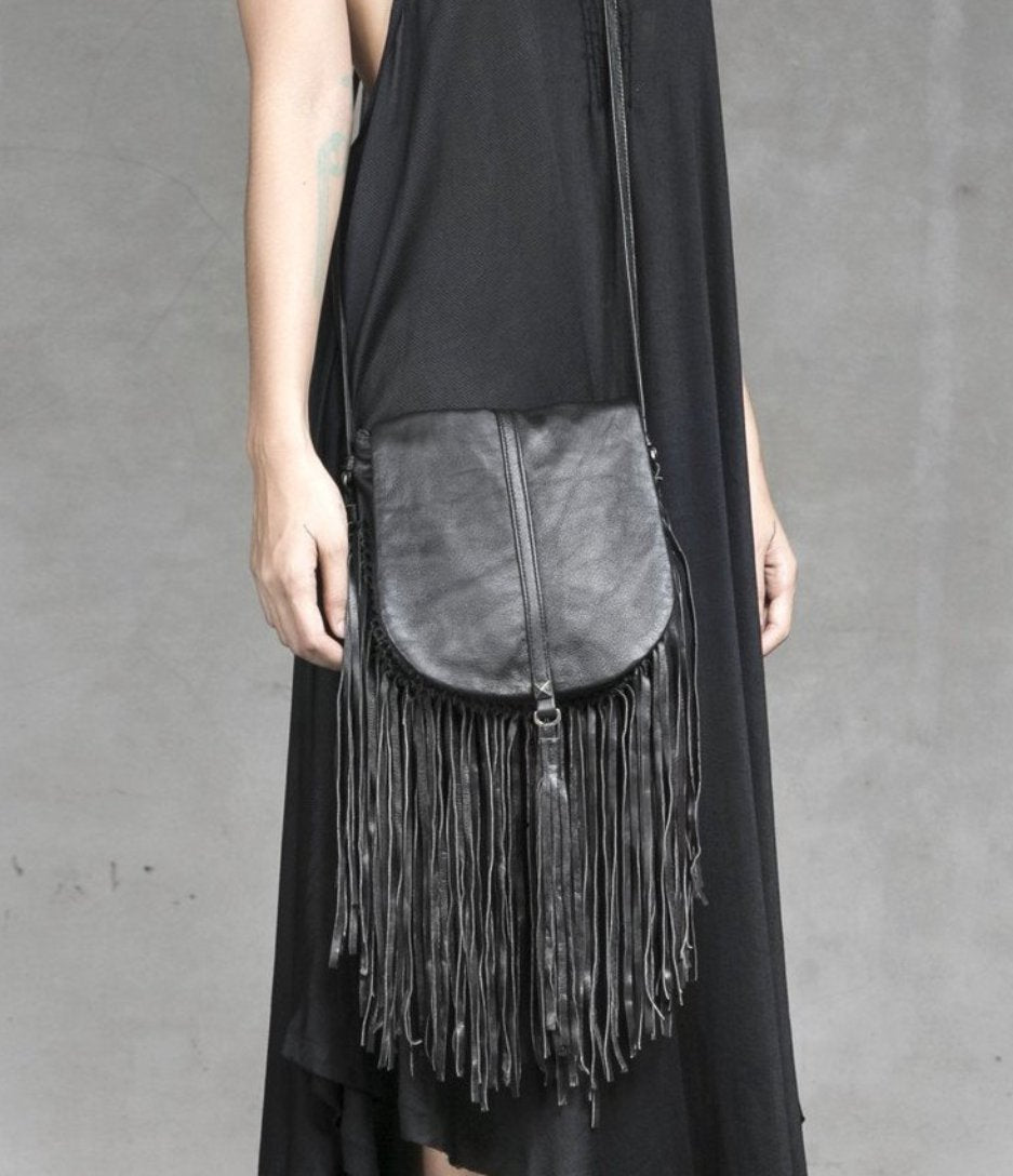Heather fringe bag