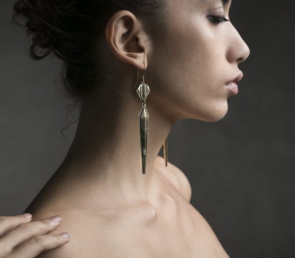deco spire earrings
