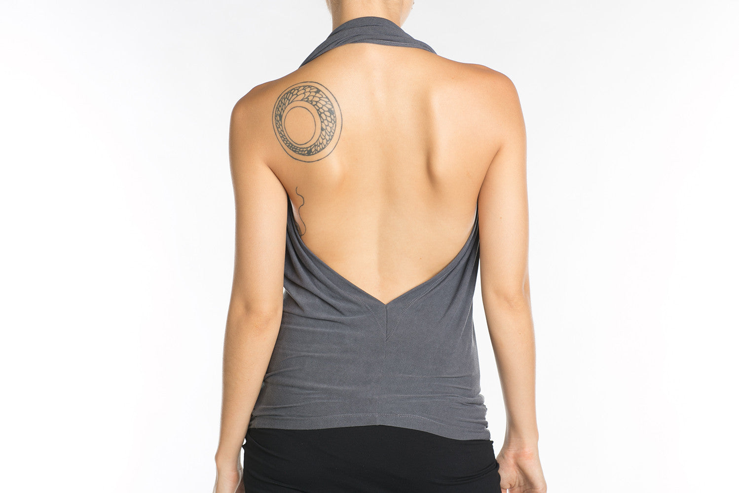 Wave Convertable Halter Top Gray