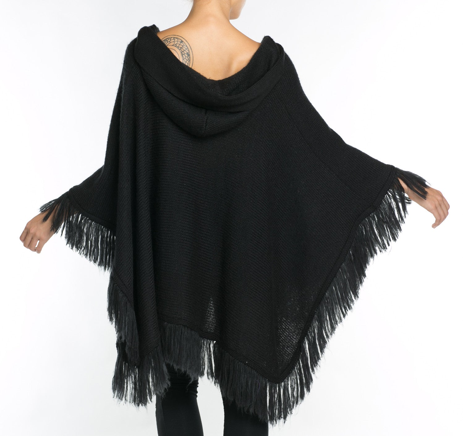 Crane Hooded Shawl