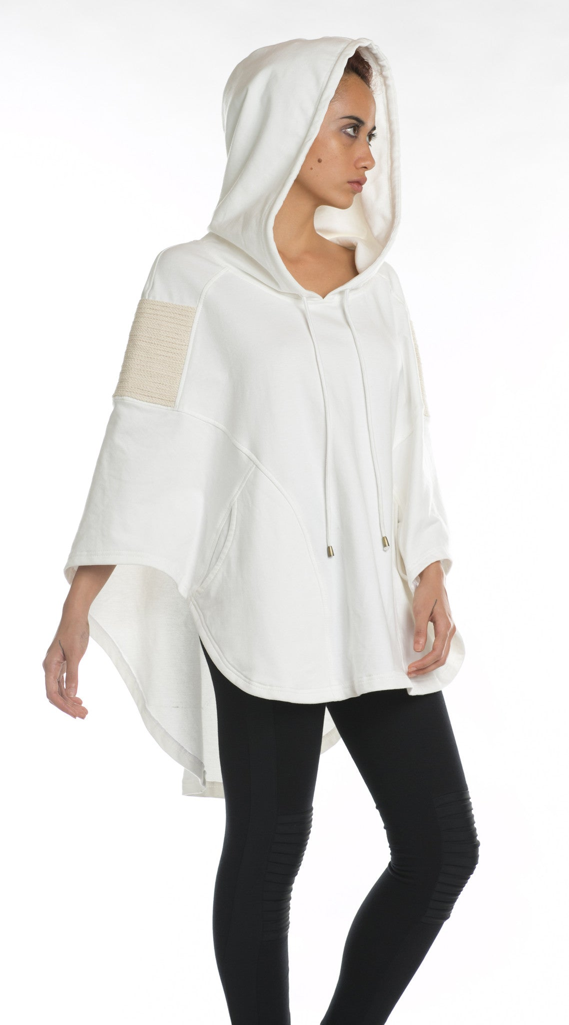 Boa Hooded Poncho White