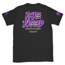 Load image into Gallery viewer, Rare Breed Aloha Dynasty, Purple Neon Hala Design Short-Sleeve Unisex T-Shirt