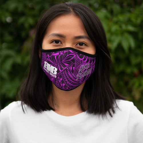 Hot Pink Tribal Aloha Dynasty Rare Breed Fitted Polyester Face Mask