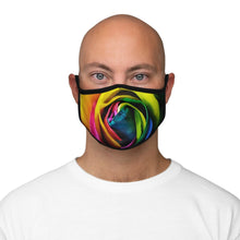 Load image into Gallery viewer, Rainbow Rose - Fitted Polyester Face Mask