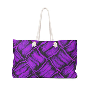 Purple Lauhala Weekender Bag