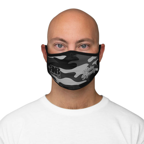 Rare Breed Smoke Camouflage Fitted Polyester Face Mask