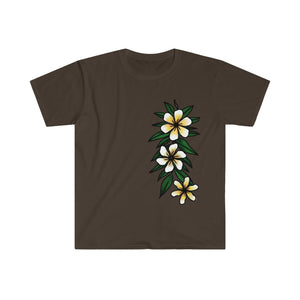 Hand-drawn Hawaii Floral and Maile Design Unisex Softstyle T-Shirt