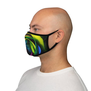 Rainbow Rose - Fitted Polyester Face Mask