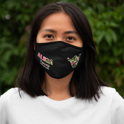 Aloha Dynasty Pink Shaka Fitted Polyester Face Mask