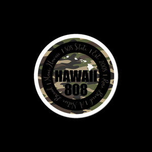 Hawaii 808 Camo Sticker