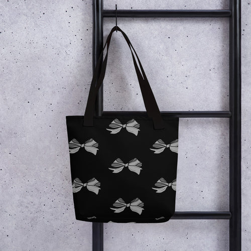 Hand-drawn Bow Design Tote bag