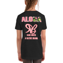 Load image into Gallery viewer, Aloha Shaka Floral Print - Youth Short Sleeve T-Shirt