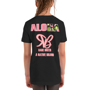 Aloha Shaka Floral Print - Youth Short Sleeve T-Shirt
