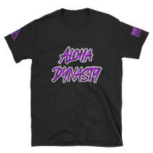 Load image into Gallery viewer, Rare Breed Aloha Dynasty, Purple Neon Hala Design - Short-Sleeve Unisex T-Shirt