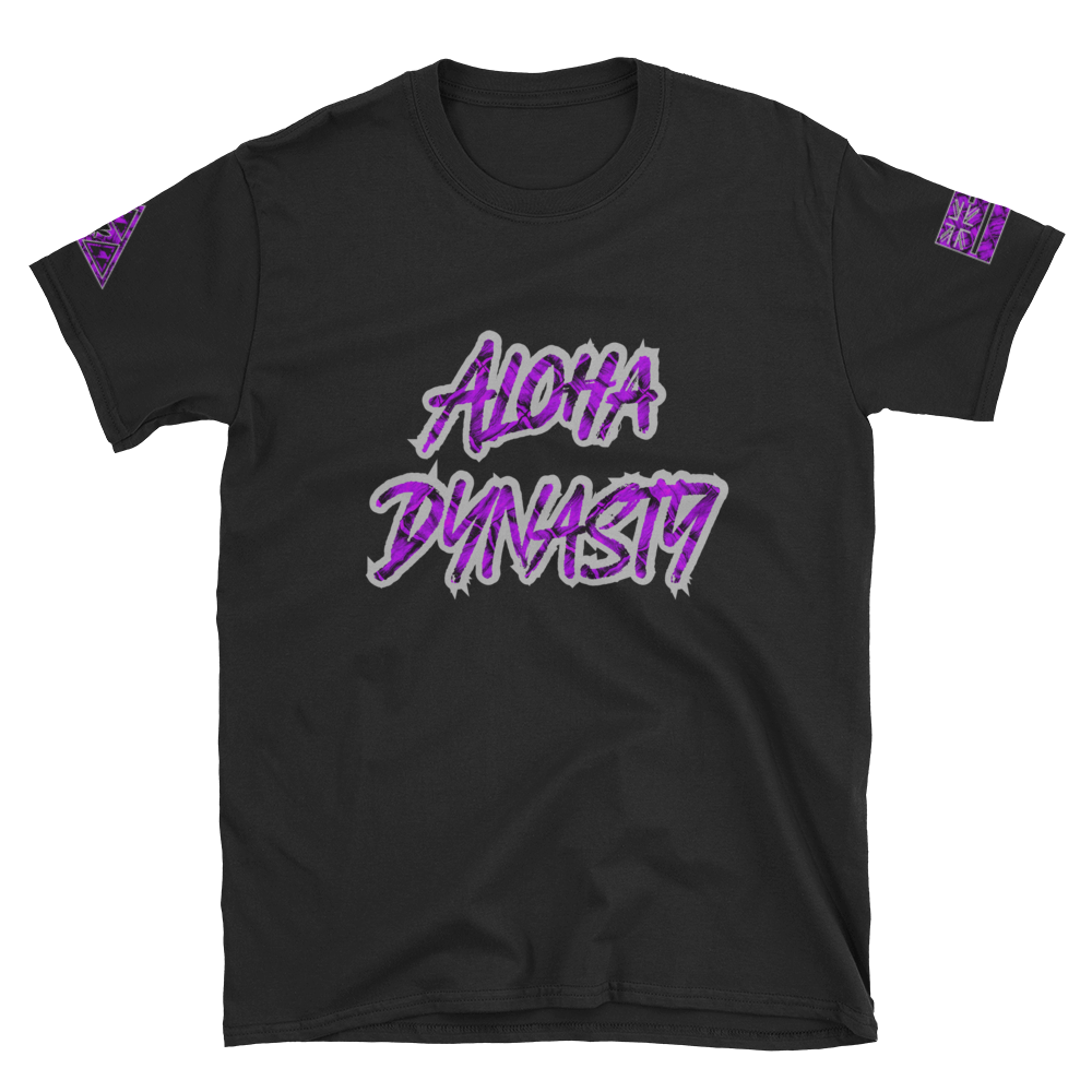 Rare Breed Aloha Dynasty, Purple Neon Hala Design - Short-Sleeve Unisex T-Shirt
