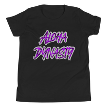 Load image into Gallery viewer, Aloha Dynasty Neon Purple Youth Short Sleeve T-Shirt