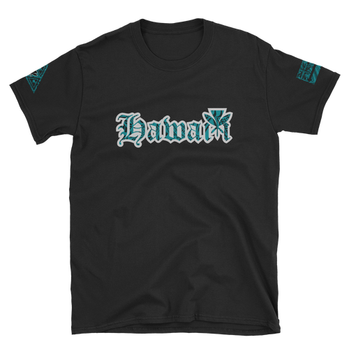 Rare Breed Hawai'i - Teal Tribal Short-Sleeve Unisex T-Shirt