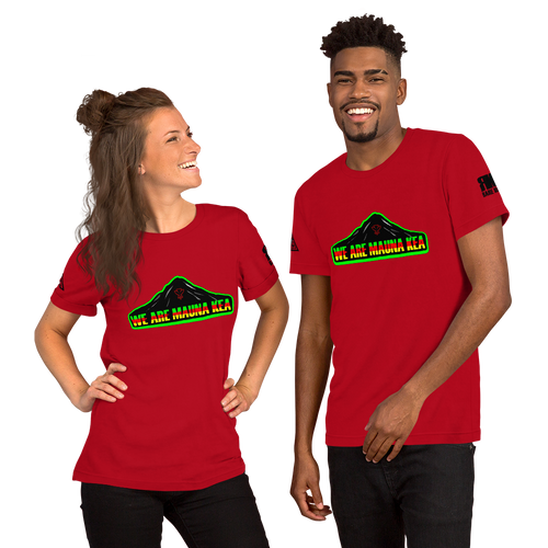 We Are Mauna Kea Red Short-Sleeve Unisex T-Shirt