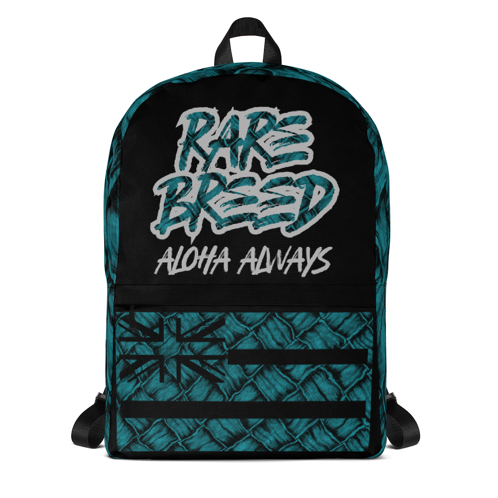 Rare Breed Aloha Always, Teal Hala Design - Backpack