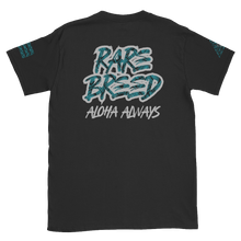 Load image into Gallery viewer, Rare Breed Aloha Dynasty, Teal Lauhala Print Short-Sleeve Unisex T-Shirt
