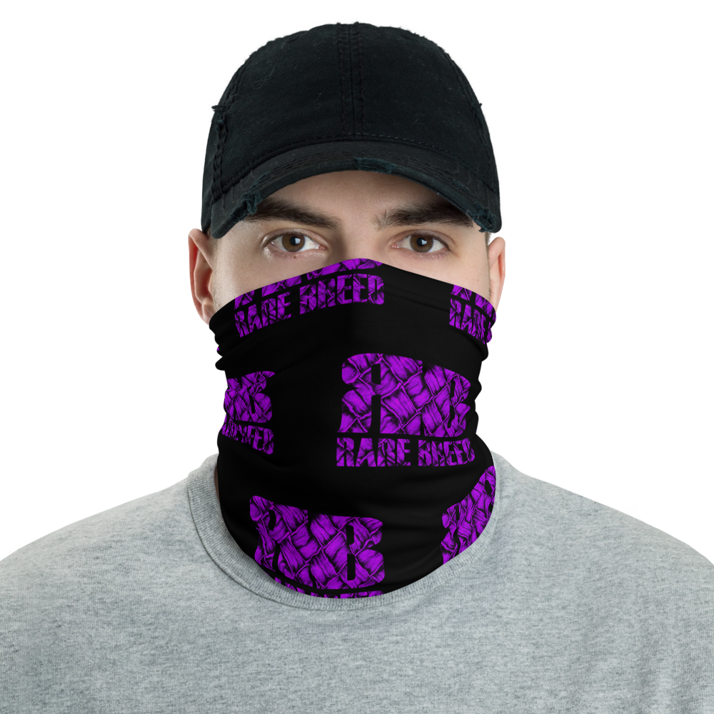 Rare Breed Purple Lauhala Neck Gaiter, Face Cover