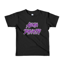 Load image into Gallery viewer, Aloha Dynasty Neon Purple Hala Print Short sleeve kids t-shirt