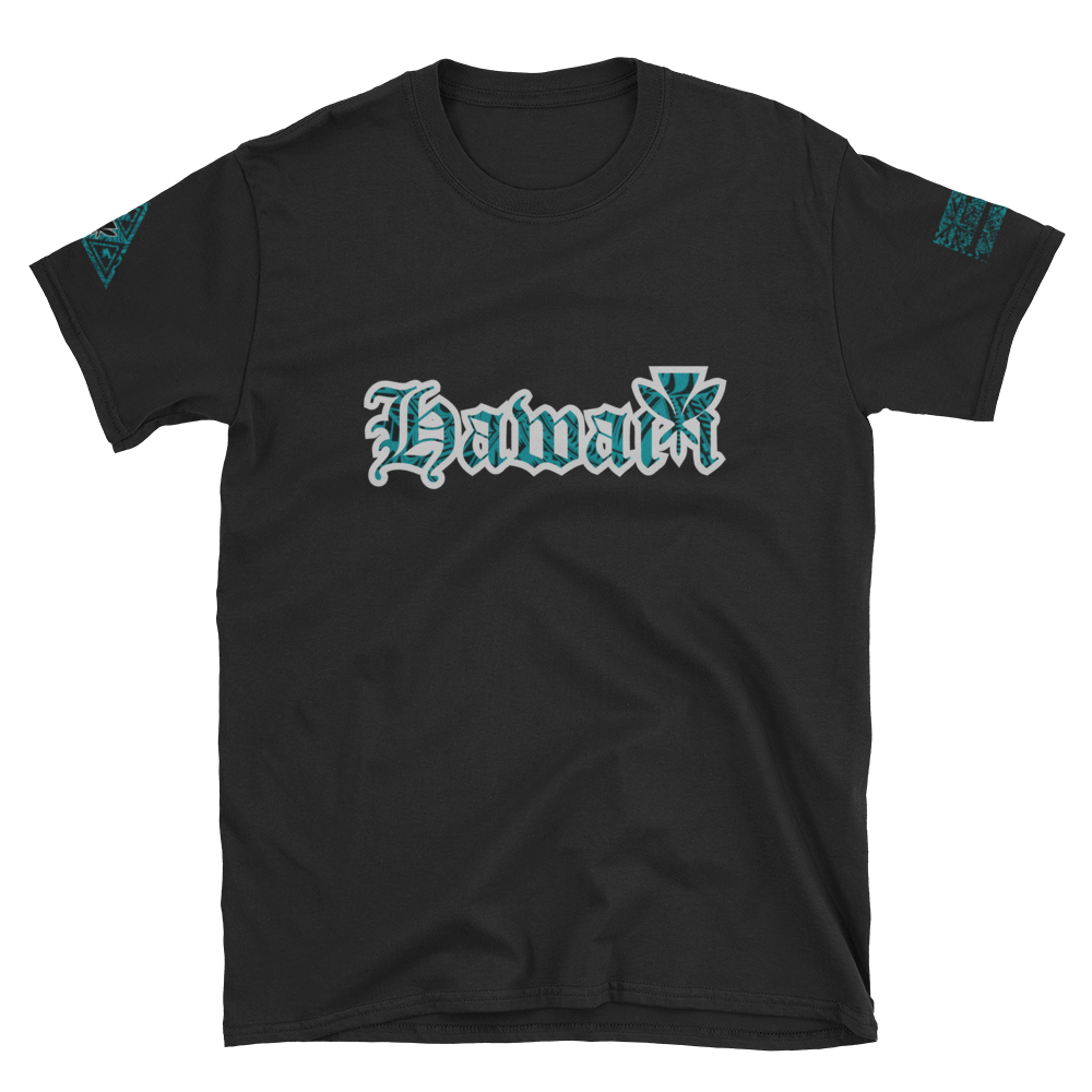 Rare Breed Hawai'i, Teal Tribal Short-Sleeve Unisex T-Shirt