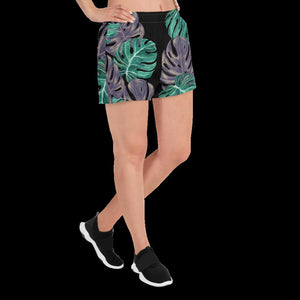 Monstera Women's Athletic Short Shorts