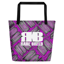 Load image into Gallery viewer, Rare Breed Pink Lauhala Print Beach Bag