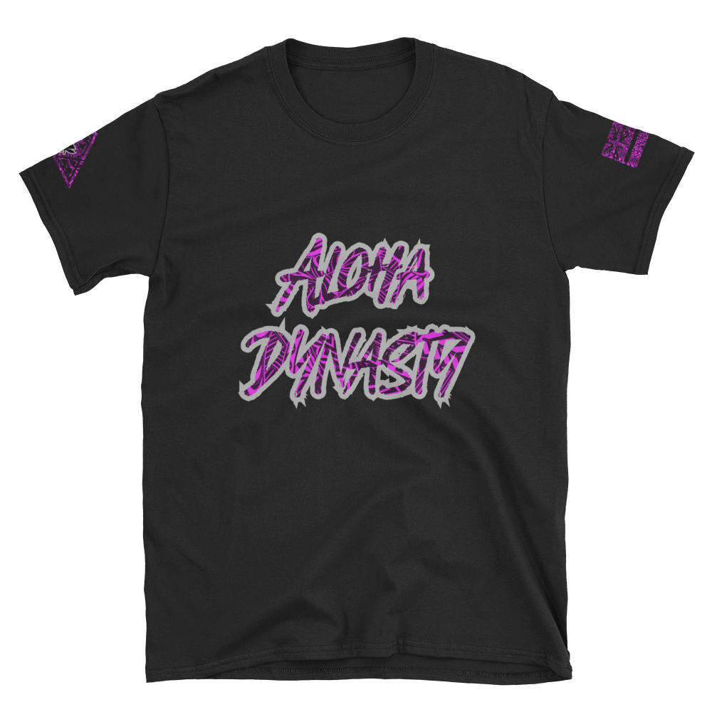 Rare Breed Aloha Dynasty Hot Pink Tribal, Short-Sleeve Unisex T-Shirt