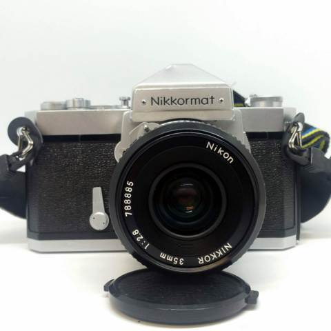 Nikon Nikkormat FT-N with Nikkor f:2.8 35mm