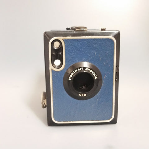 Kodak brownie Portrait No. 2 Blue