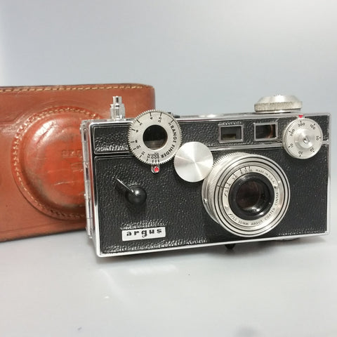 Argus C3 with brown carry case