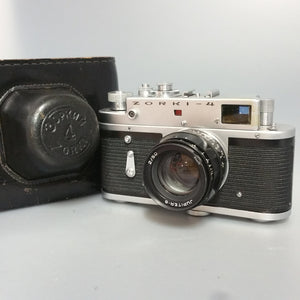 Zorki 4  with brown carry case, 35mm camera, Collectable