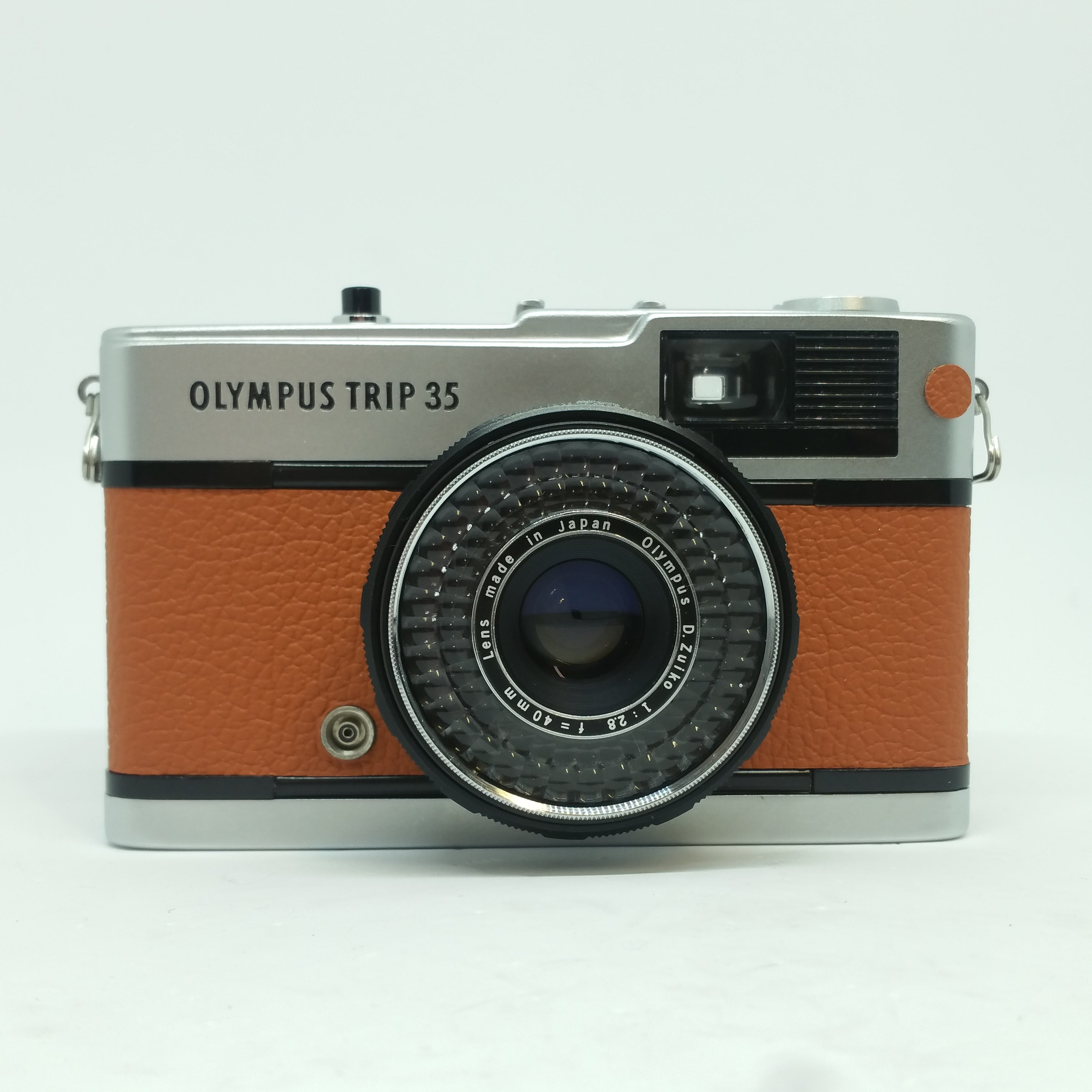 Olympus TRIP 35 customized  with ORANGE leather