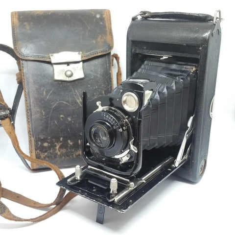 W. Butcher & Sons Carbine Model 3F Folding film and plate camera with Lukos III