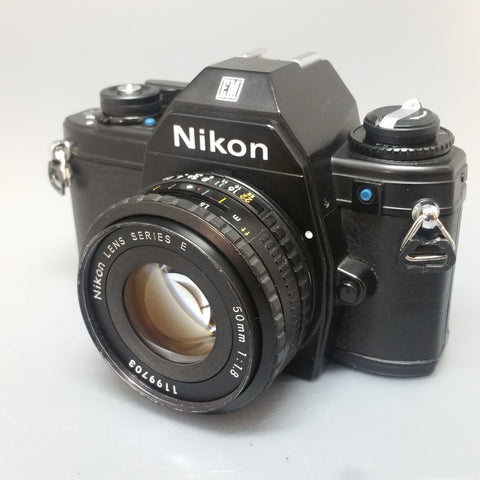 Nikon EM Blue Button with 50mm 1.8 SERIES E