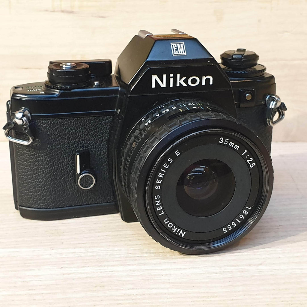 Nikon EM silver button<br> with 35mm Series E - Greenwich Cameras and Film