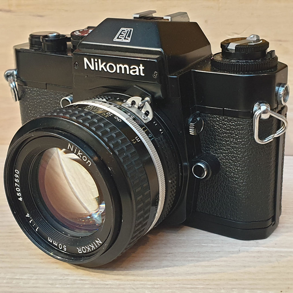 Nikon Nikomat Nikormat EL<br>with NIKKOR 50mm 1.4 - Greenwich Cameras and Film